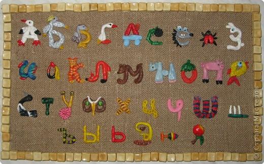 Буквы из солёного теста своими руками