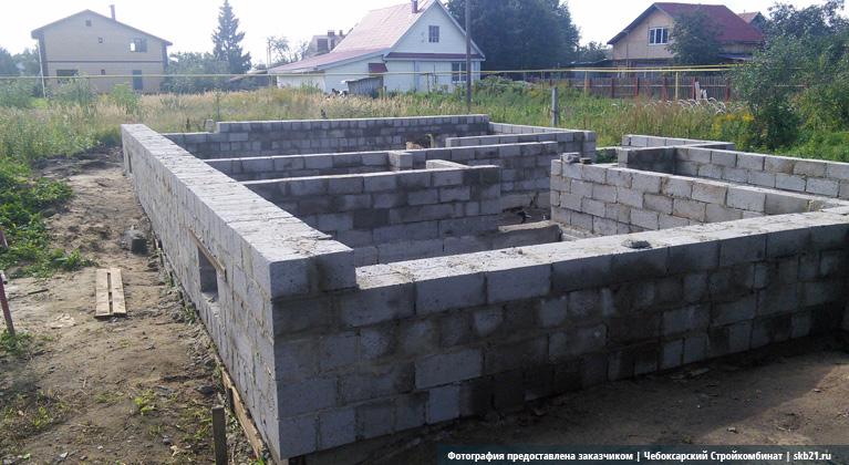 Дома из фундамент керамзитобетонных блоков своими руками