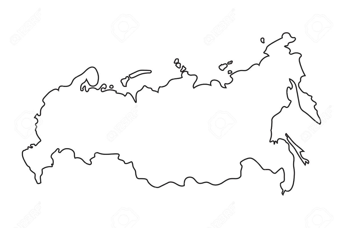 Раскраска россия на карте