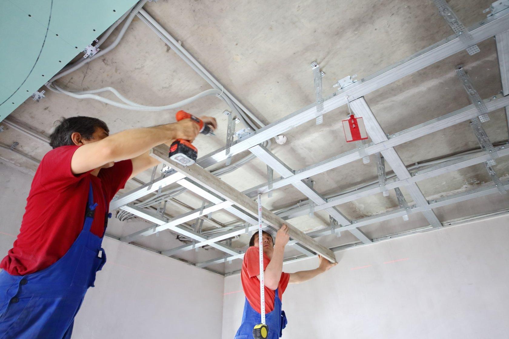 Фото ремонта подвесного потолка