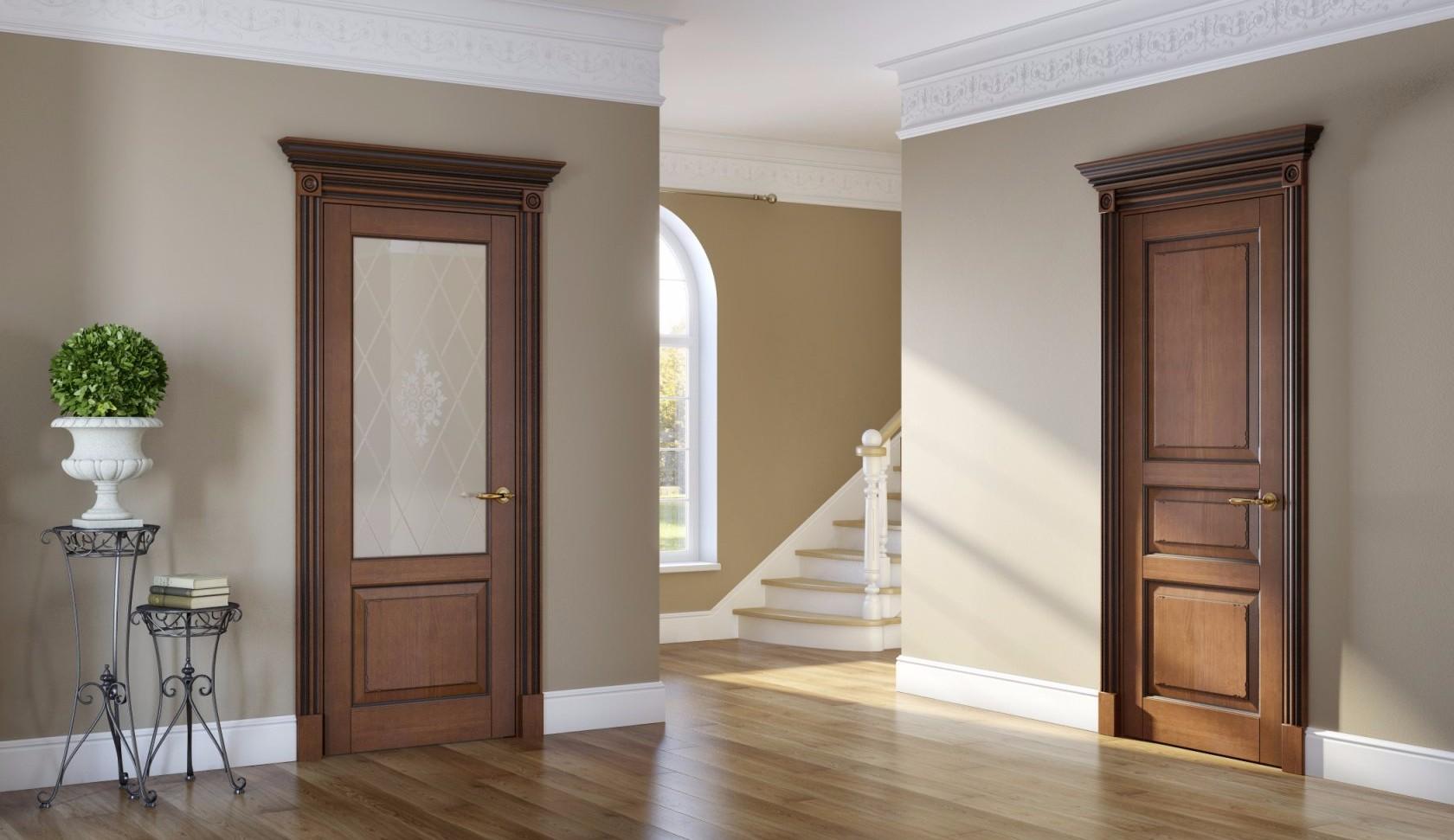 Как сделаны шпонированные межкомнатные двери