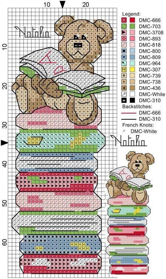 Вышивка закладок схемы 639