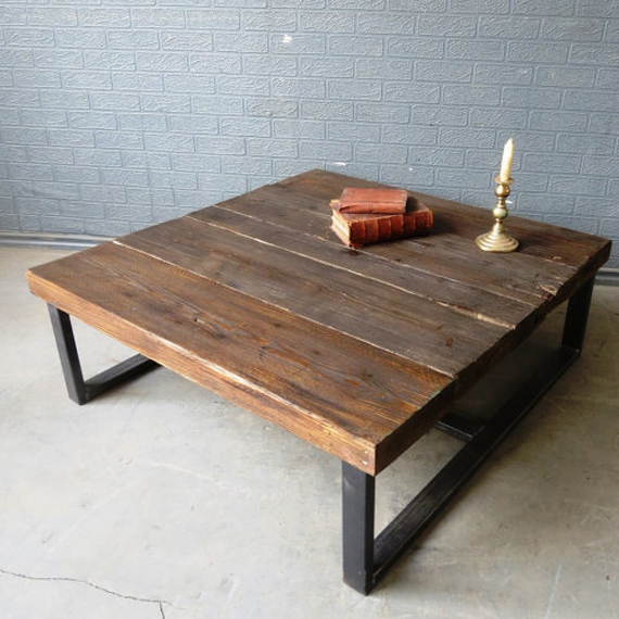 Деревянный стол в стиле лофт своими руками 45