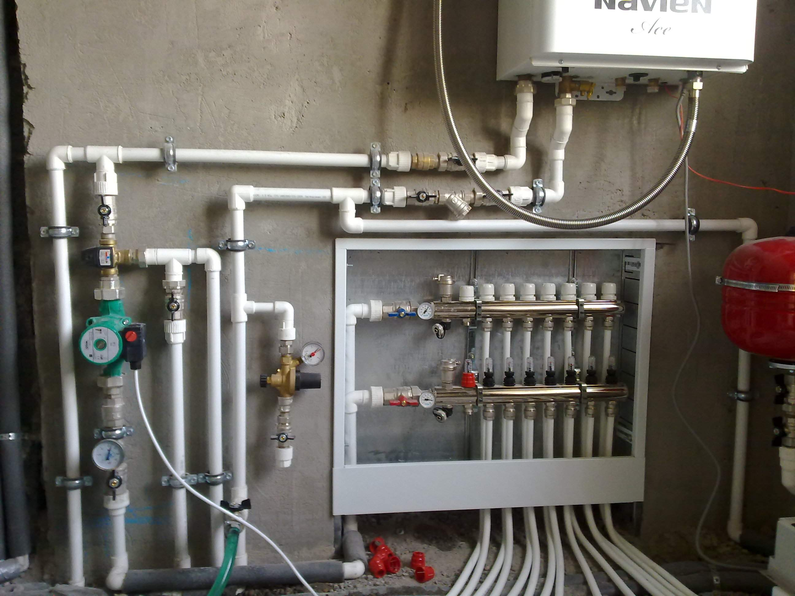 Тёплый пол водяной от газового котла в доме своими руками фото