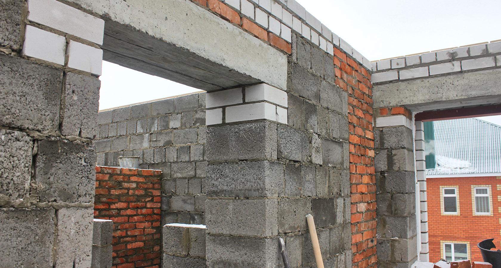 Стена из керамзитобетона своими руками 12
