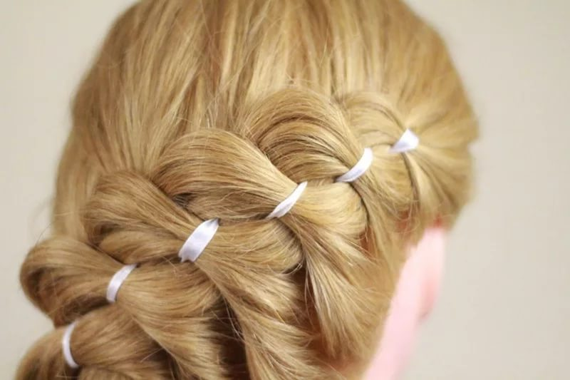 Плетение кос колоском видео