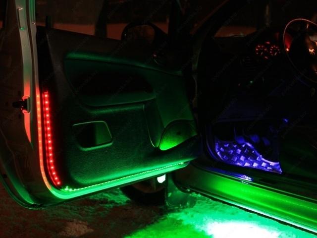 Как сделать светодиодную ленту в авто