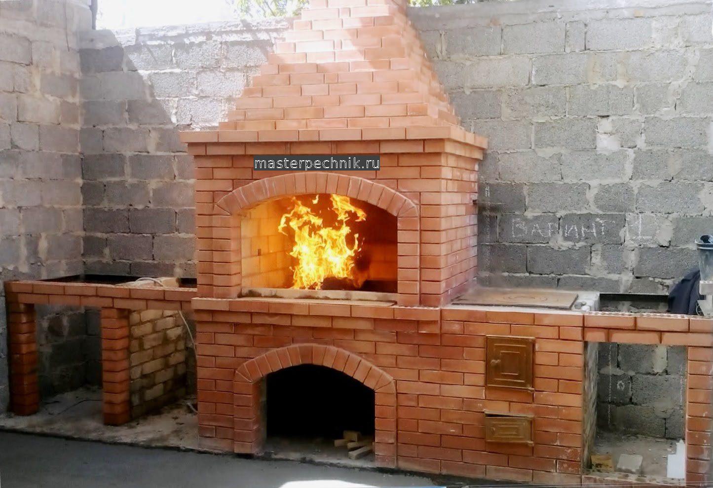 Многофункциональная, компактная уличная печь-мангал 7