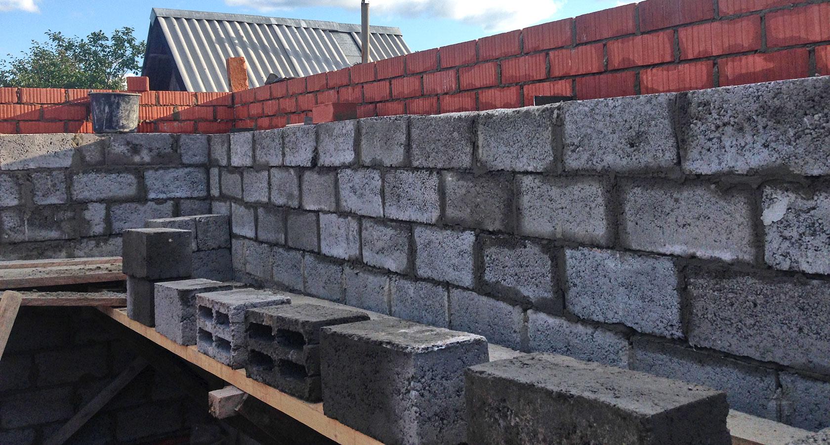 Баня из керамзитобетонных блоков своими руками сколько нужно кирпича