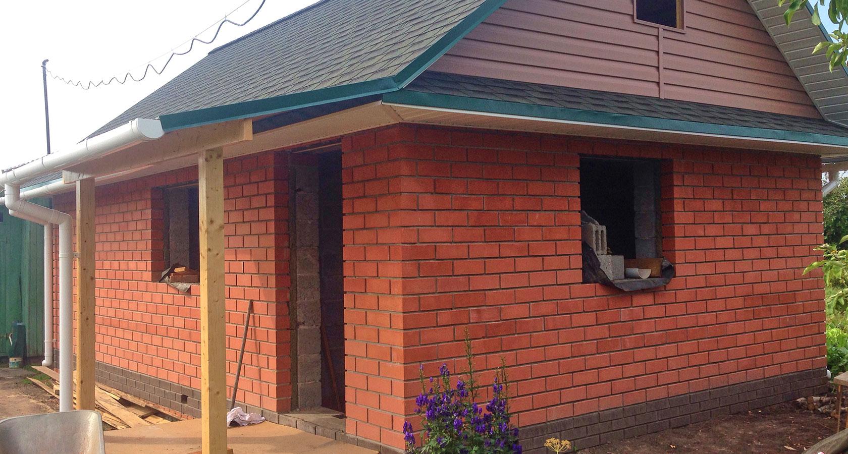 Строим баню из кирпича на даче своими руками 17