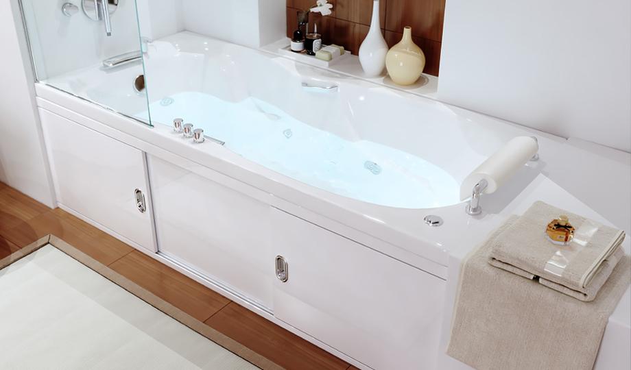 Экран для ванны из мдф раздвижной