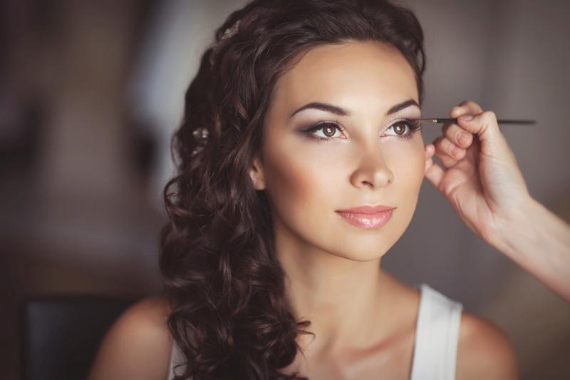 Свадебный макияж для низкого века
