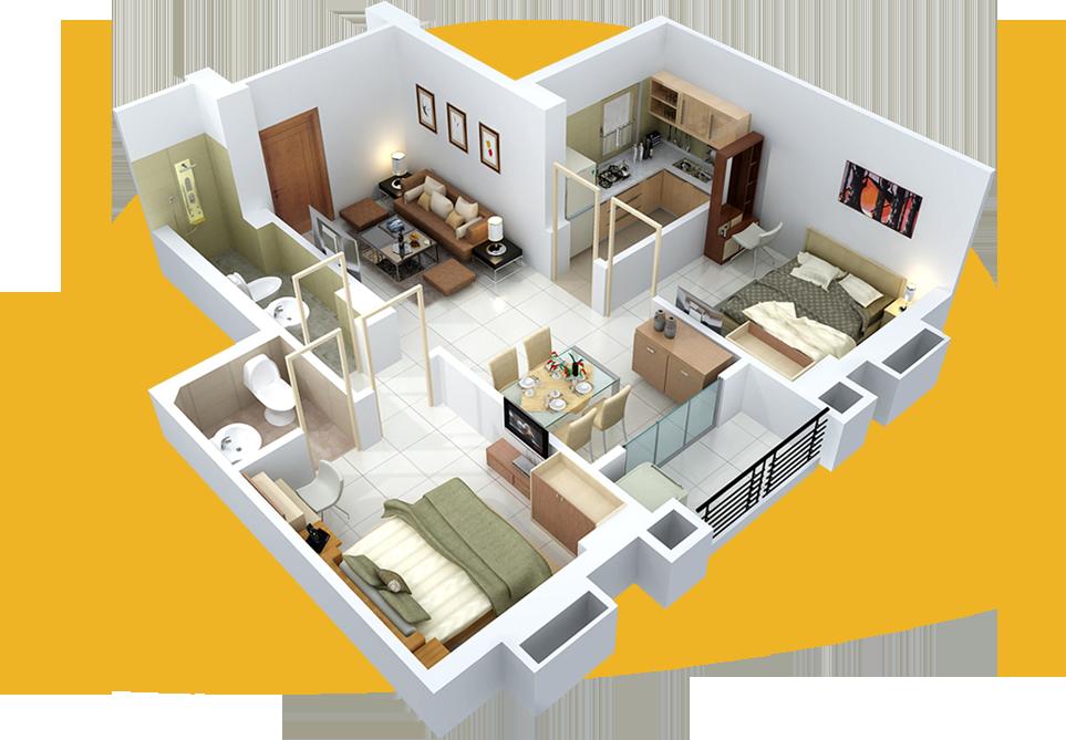 Уникальные 3d-планировки от дизайн-студии уютная квартира