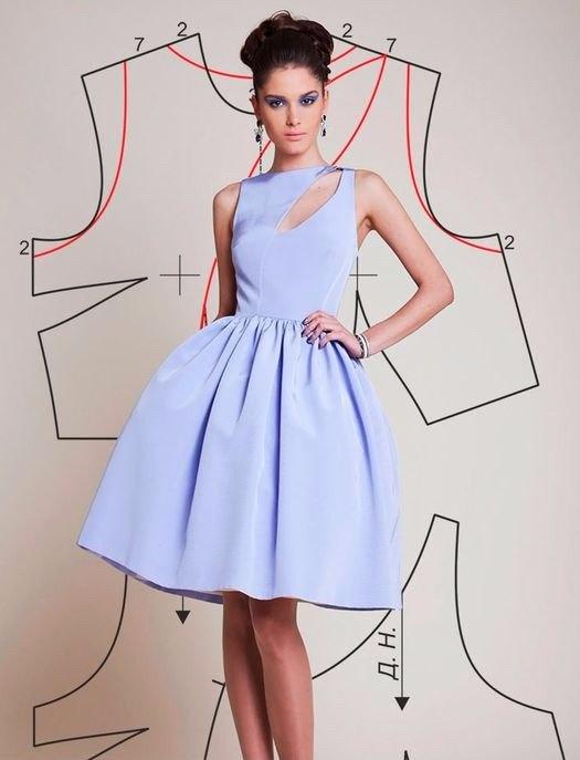 Модели платьев с выкройками для выпускного