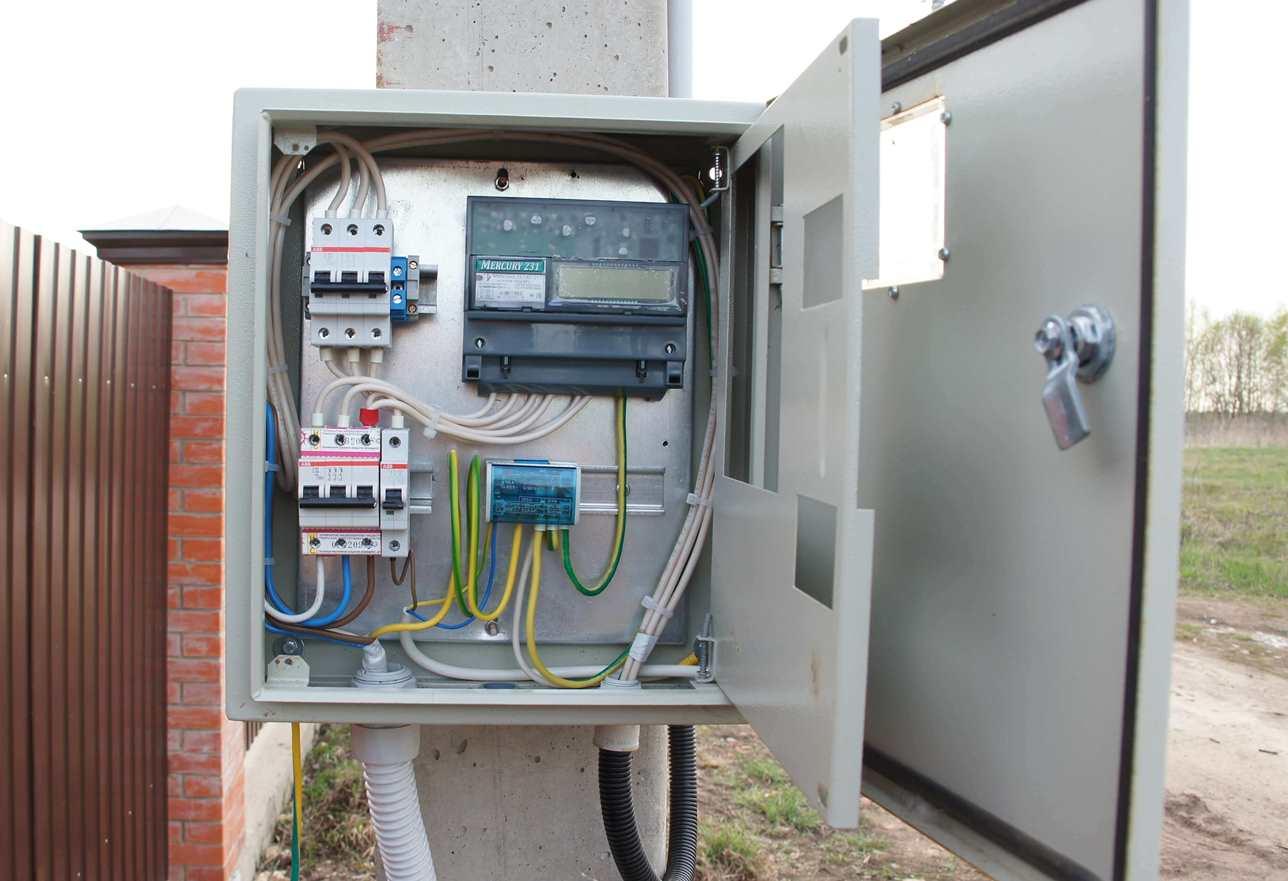 Монтаж щита учета электроэнергии 220в своими руками