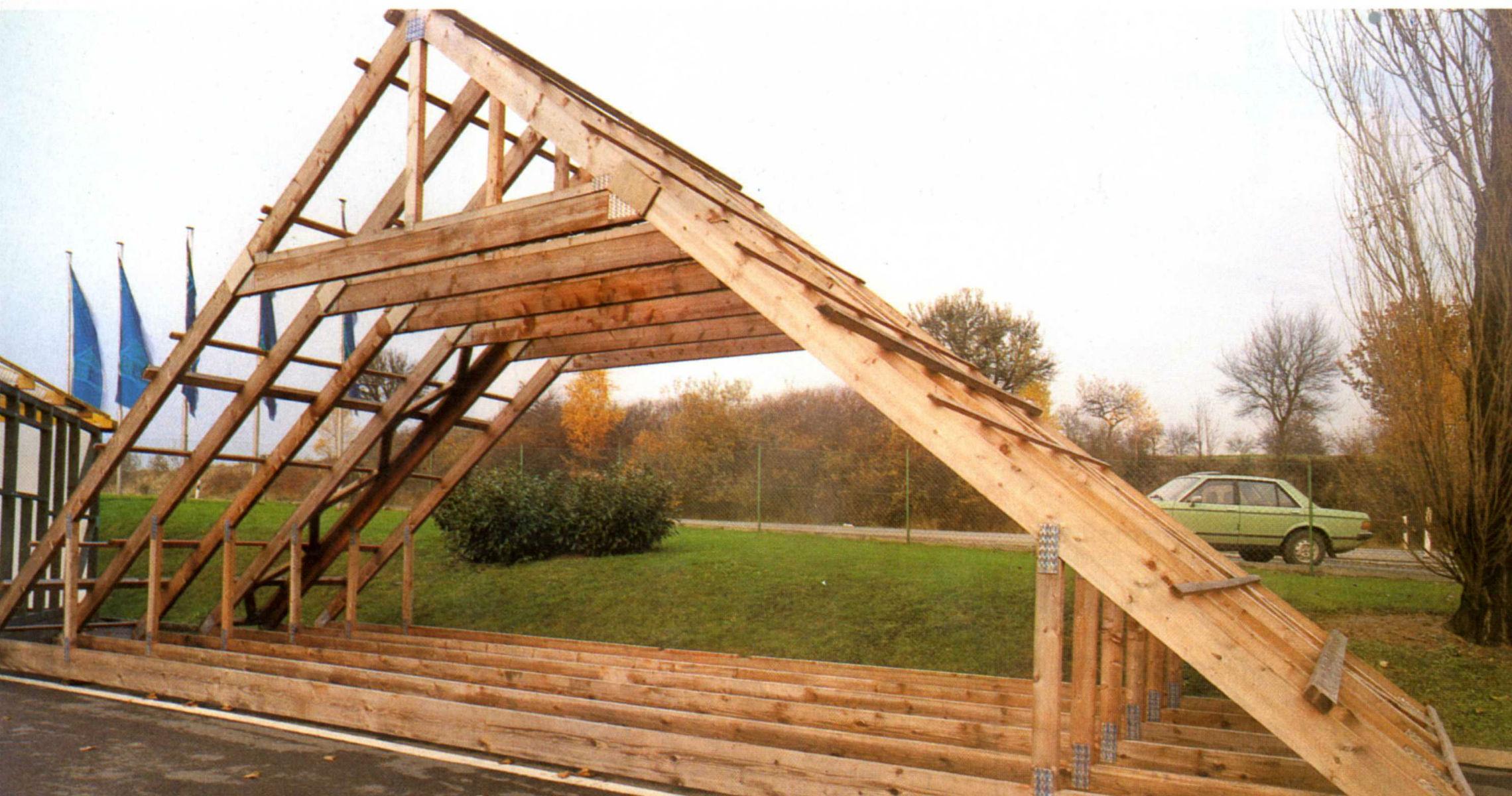 Как сделать стропила для крыши металлического гаража