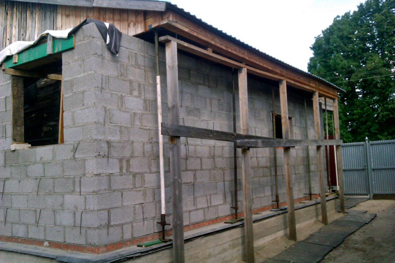 Как сделать дом из шлакоблоков