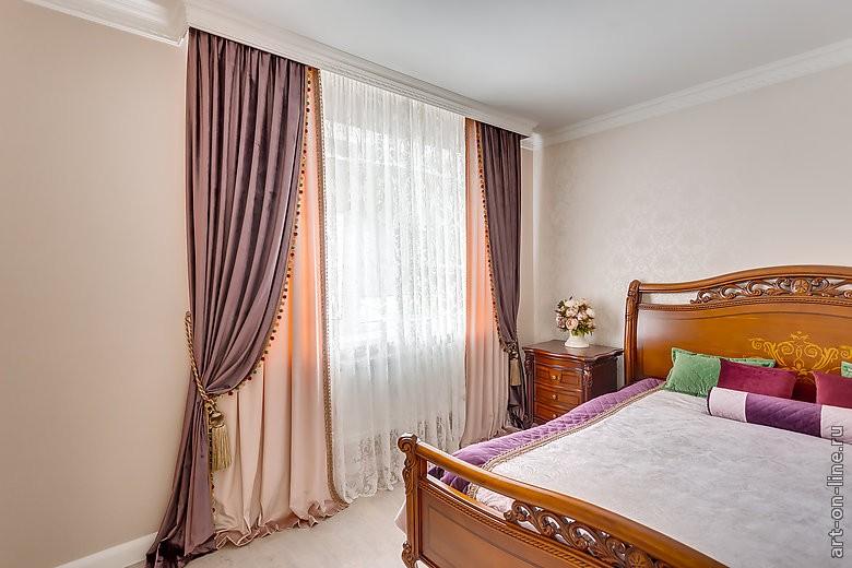 Фасоны штор для спальни фото своими руками 82