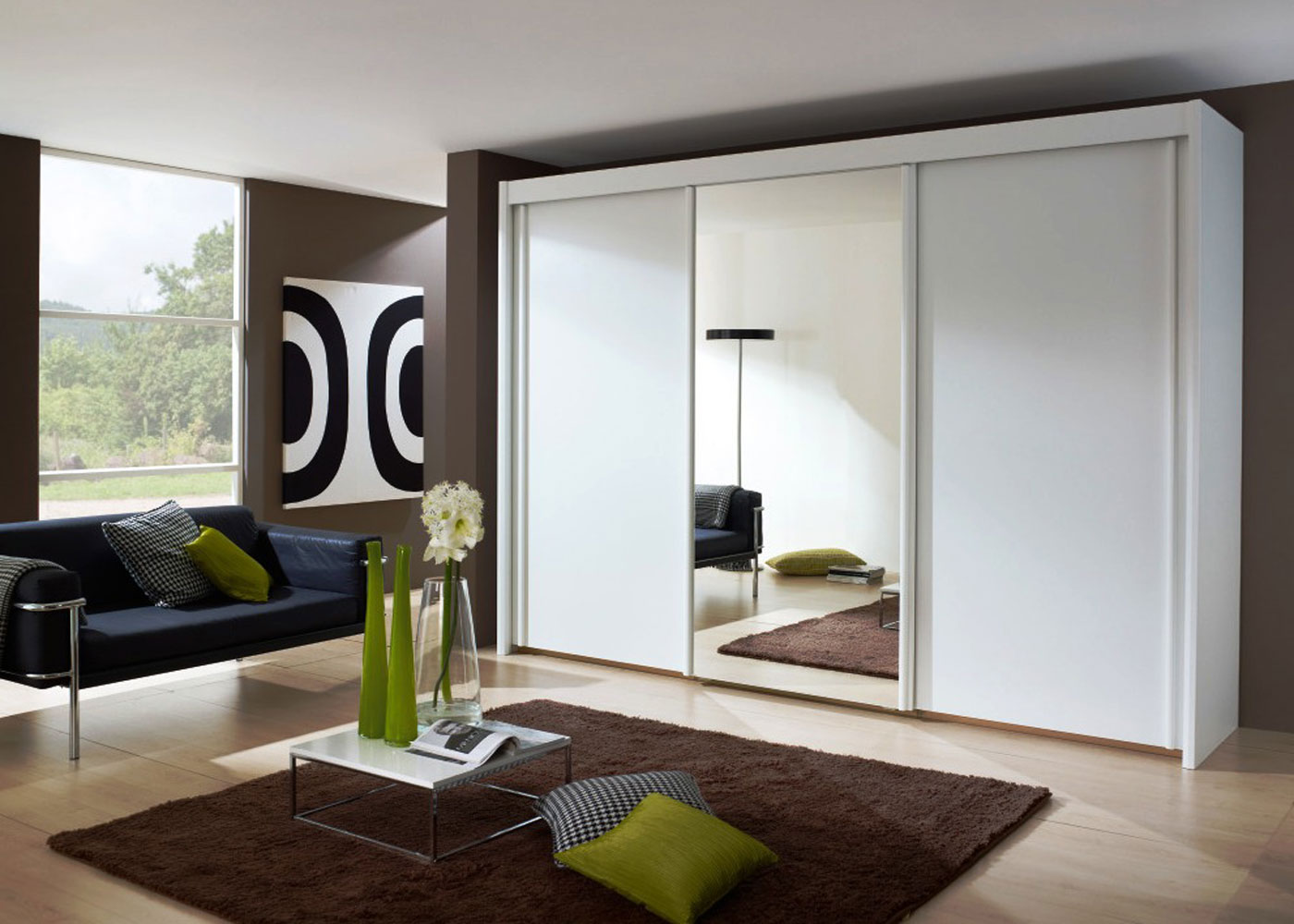 Зеркальный шкаф купе дизайн