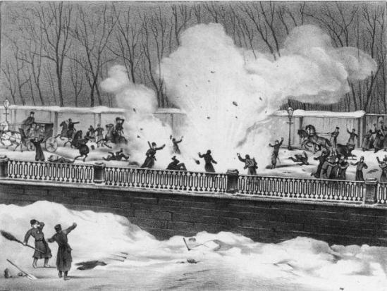 Покушение на александра ii 1 марта 1881 года: взрыв террористом гриневицким снаряда на екатерининском канале