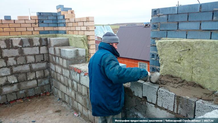 Стена из керамзитобетона своими руками 40