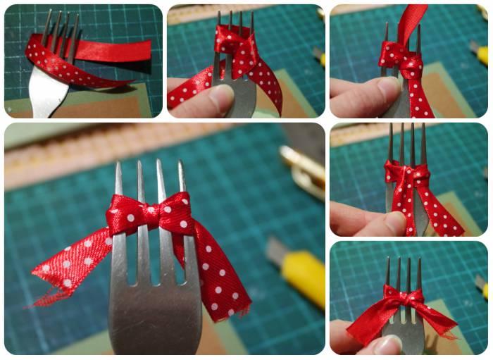 Как сделать бантик для игрушки 628