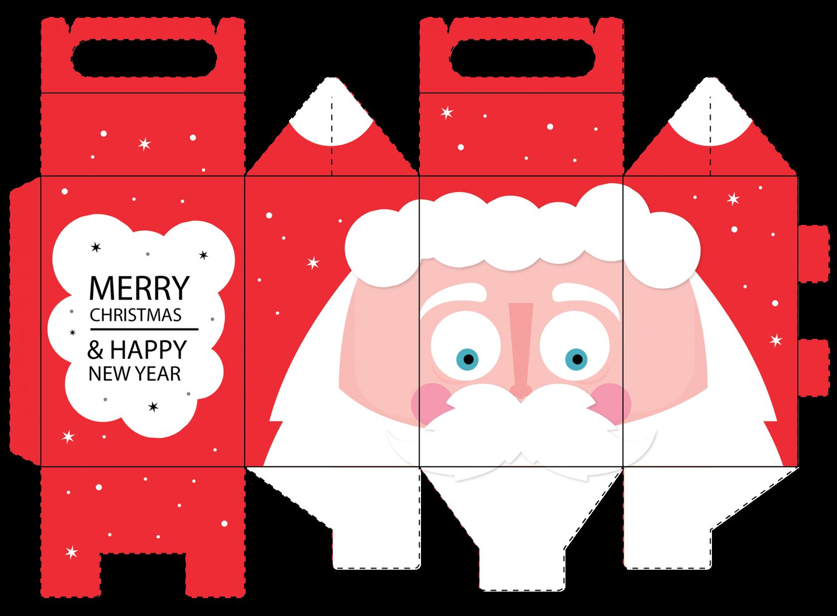 Шаблоны коробок для новогодних подарков