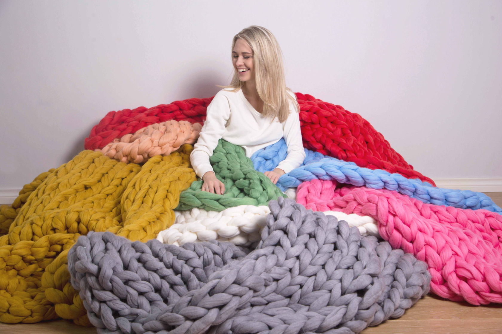 Вязание из крупной шерсти