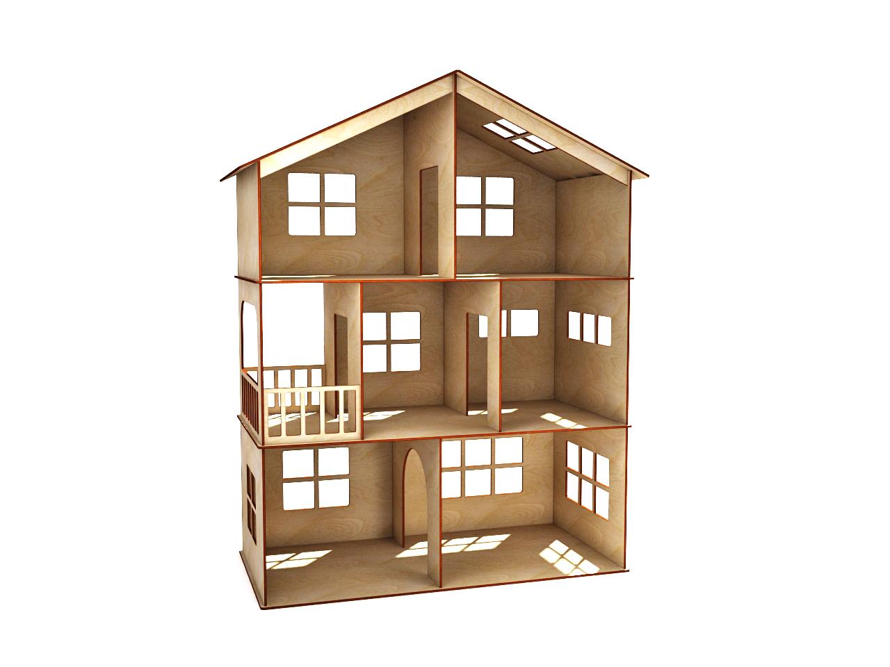 Кукольный домик из фанеры своими 78