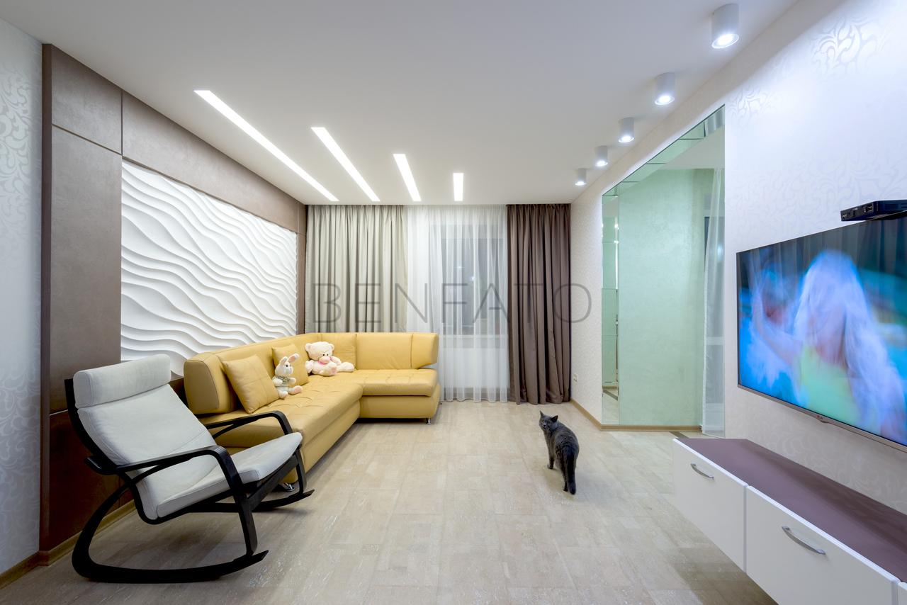 Дизайн зала прямоугольного зала 18 кв.м