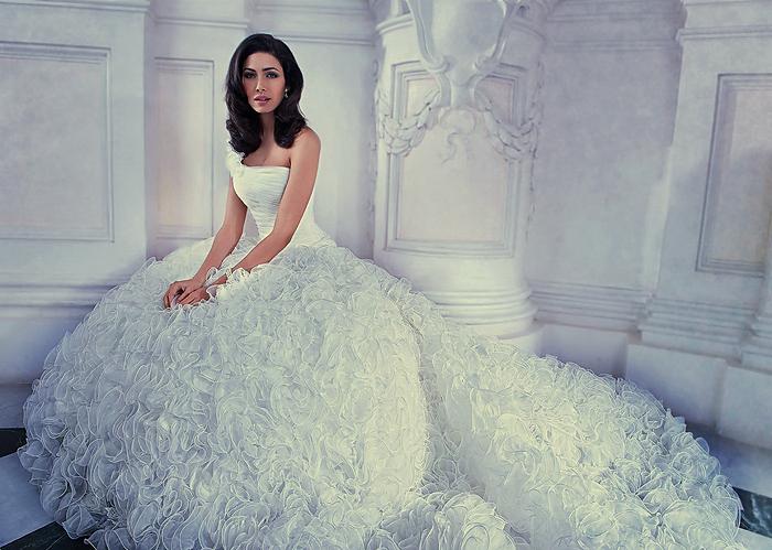 Фото дорогого свадебного платья