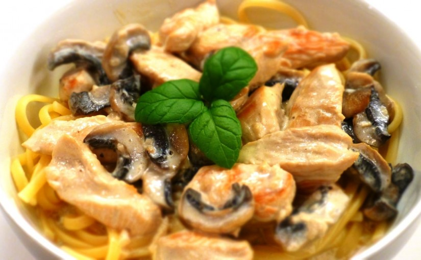 Рецепт курица с грибами в сливках с пошагово