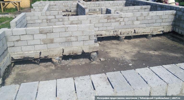 Фундамент своими руками под керамзитобетонные блоки 81