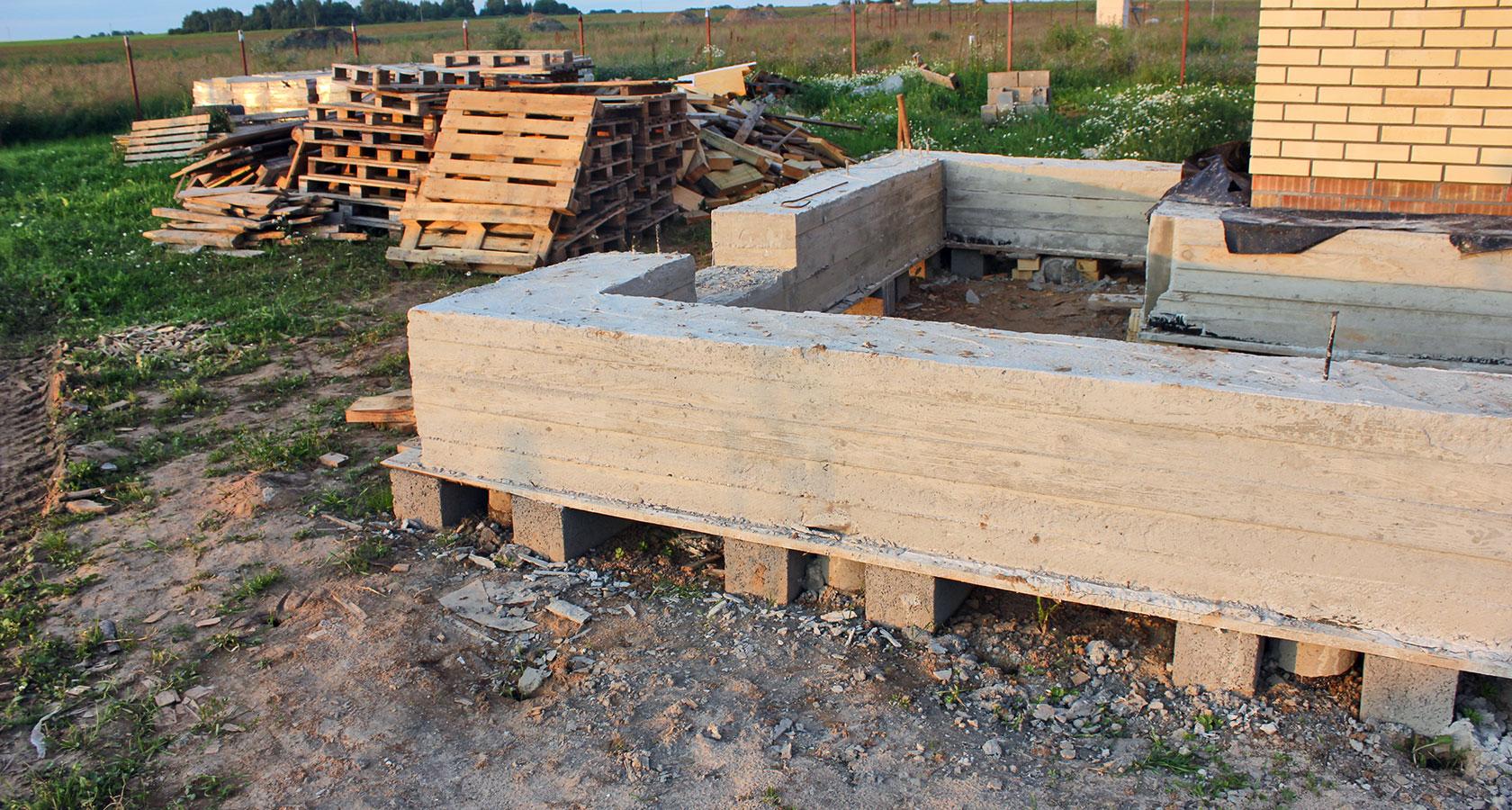 Фундамент для керамзитобетонного дома своими руками 78