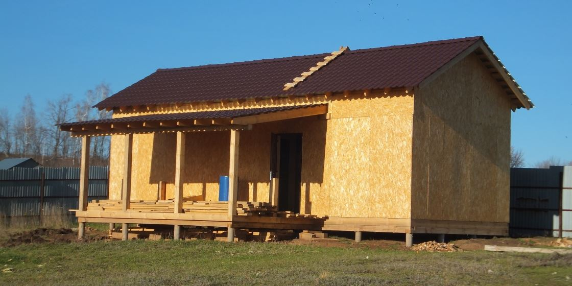 Фотоотчет строительства каркасной бани своими руками 22