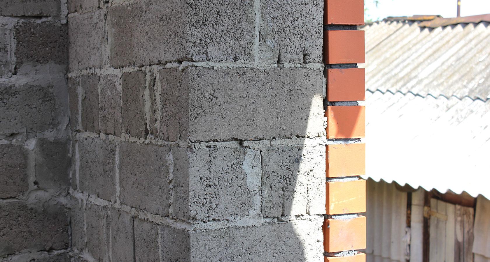 Стена из керамзитобетона своими руками 28