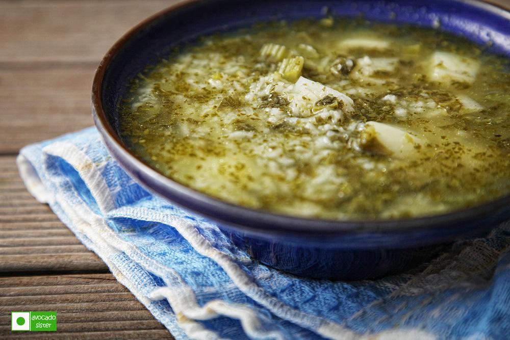 Щавелевый суп на свином бульоне рецепт