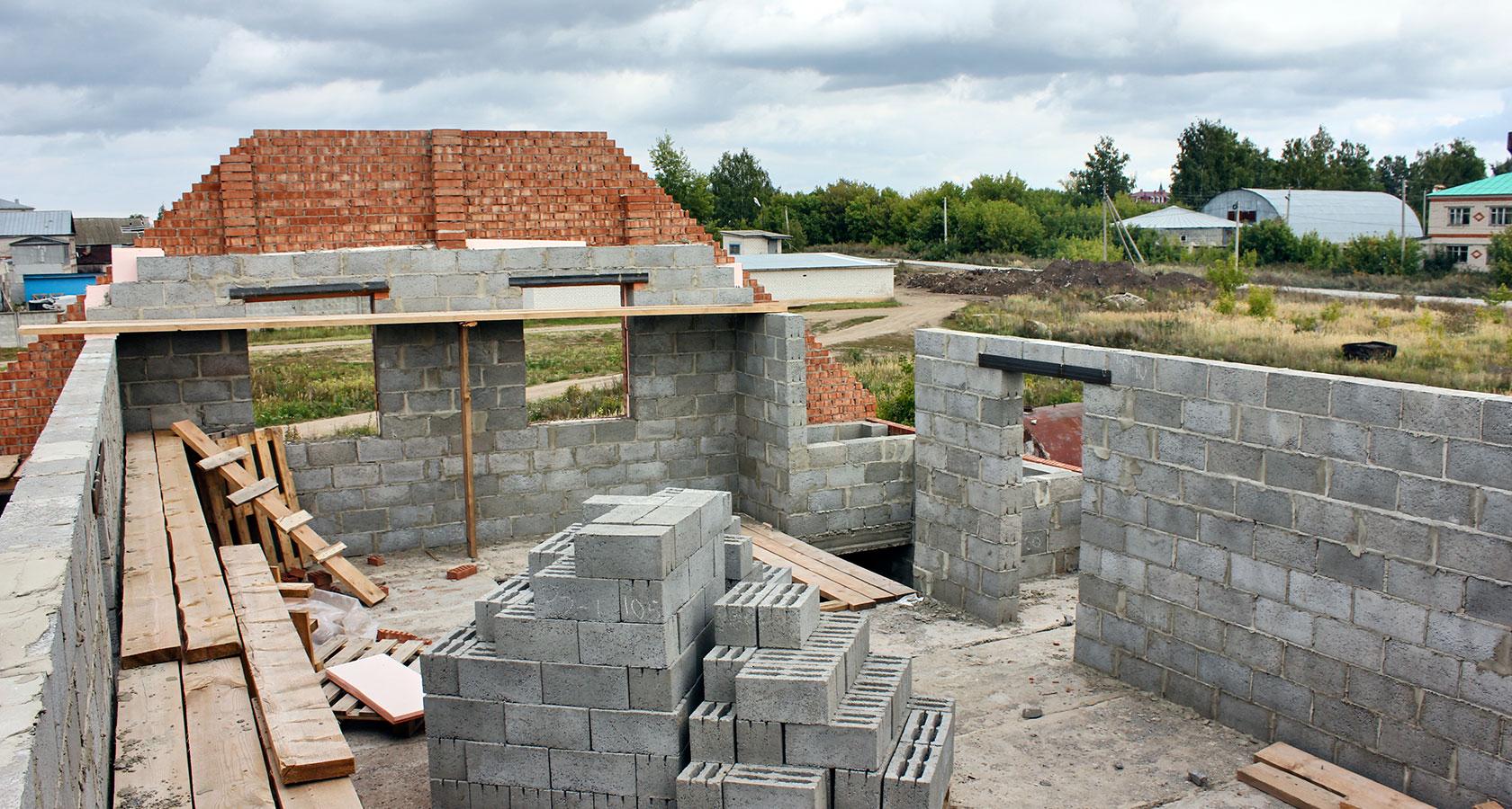 Баня из керамзитобетонных блоков своими руками фото