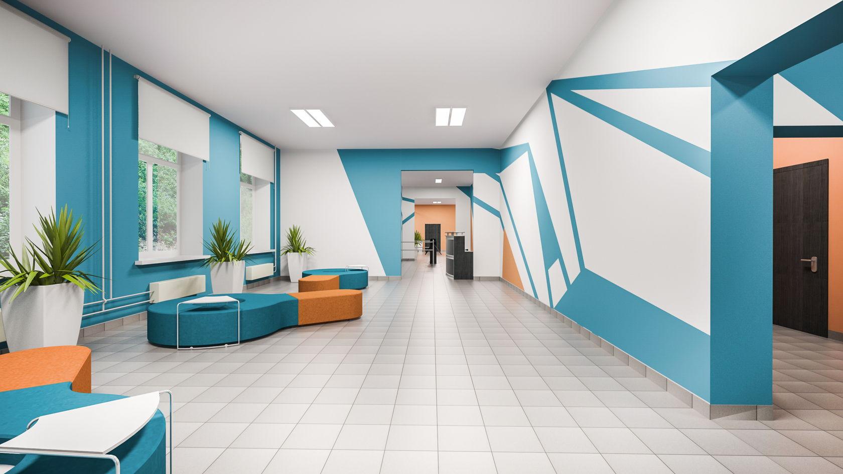 Оформление коридоров в колледже фото