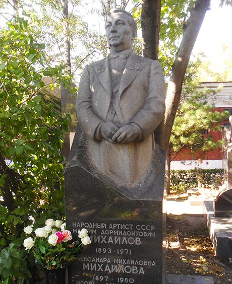 Могила Максима Михайлова на Новодевичьем кладбище в Москве