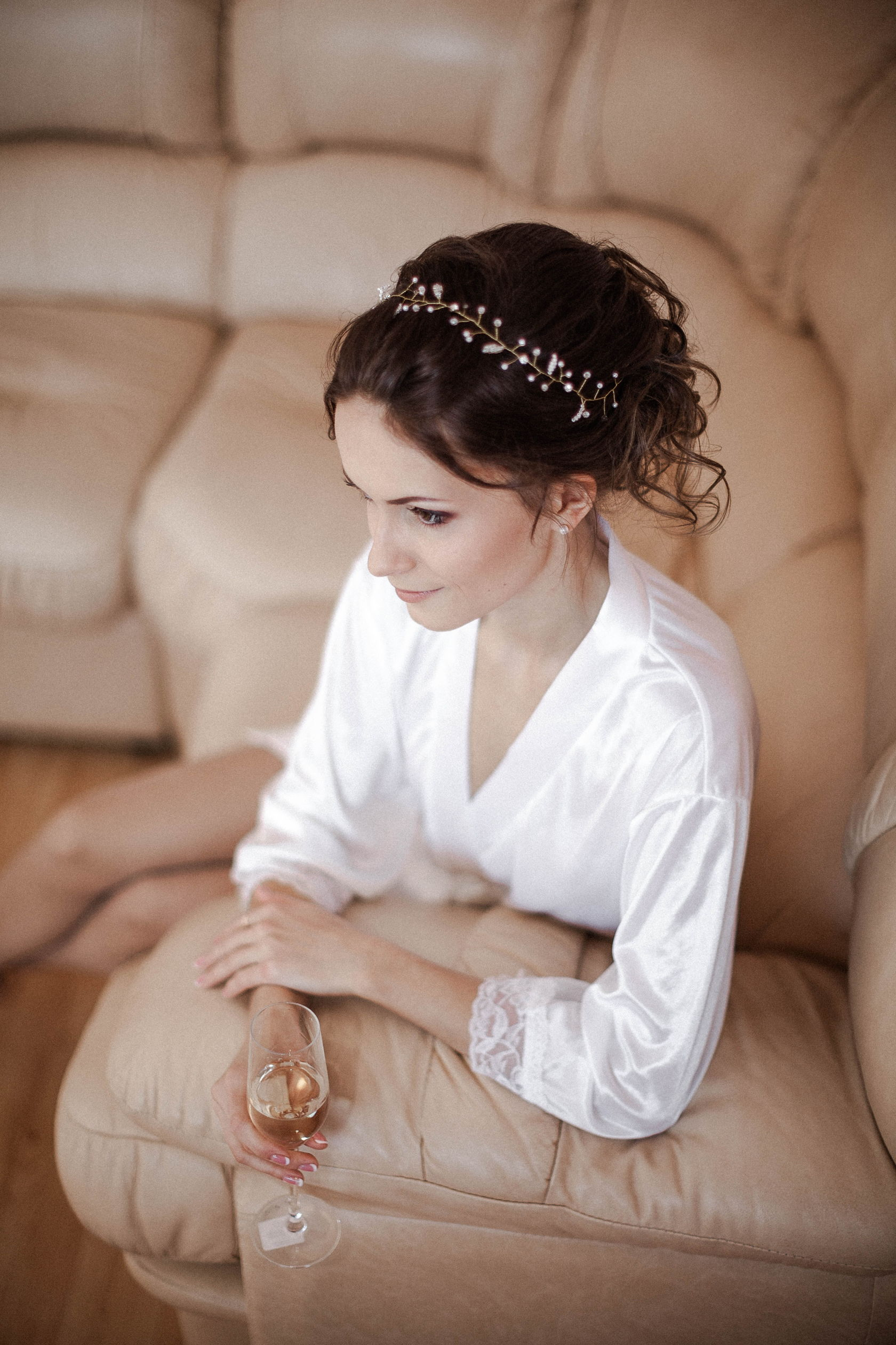 свадебный венок в прическу