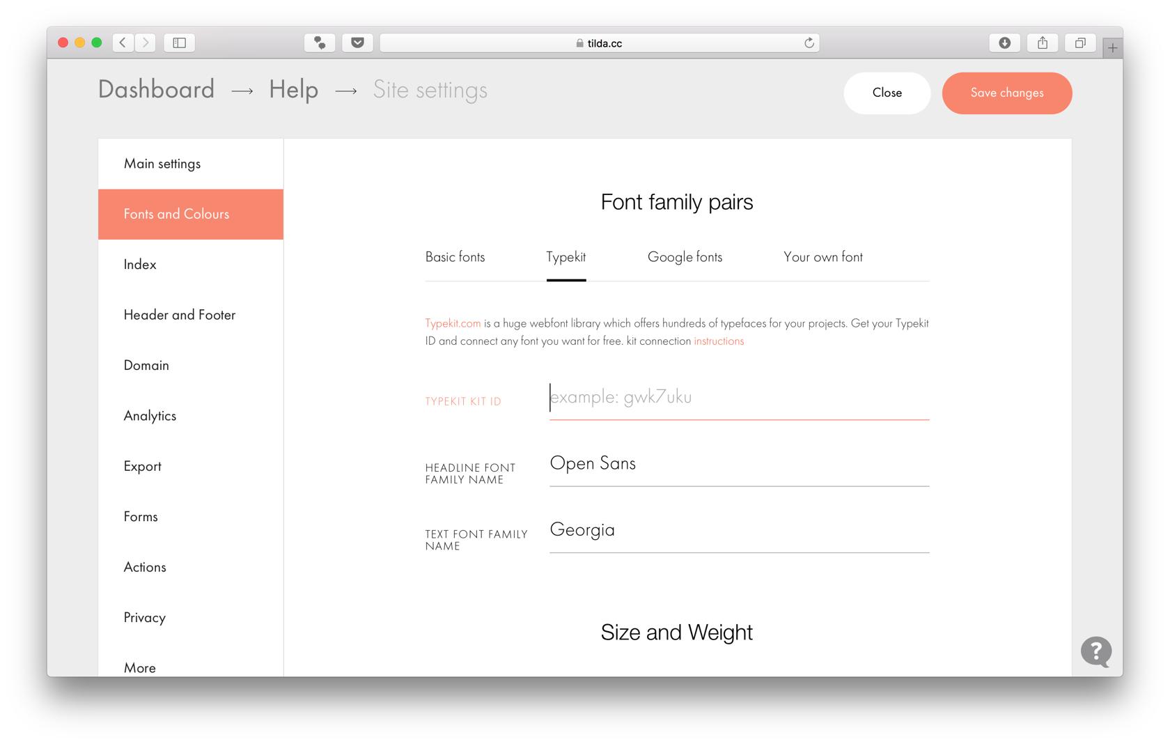 Set project fonts