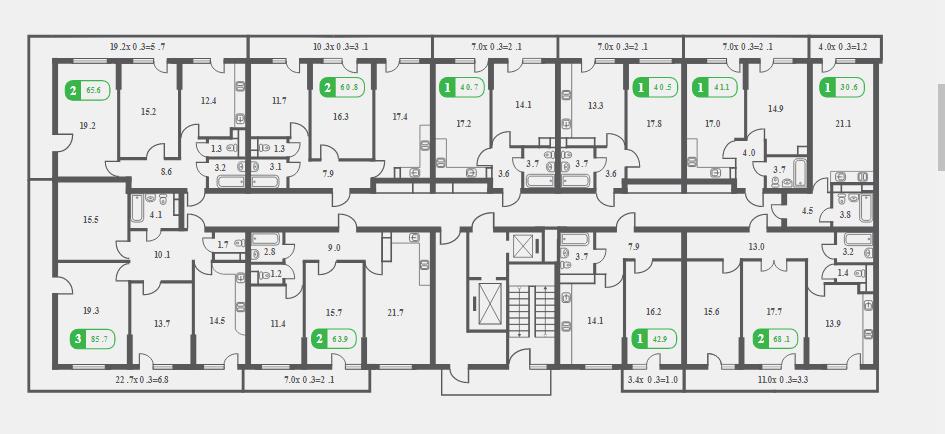 планировка квартир в ЖК Триоргия от застройщика квартира в Краснодаре купить