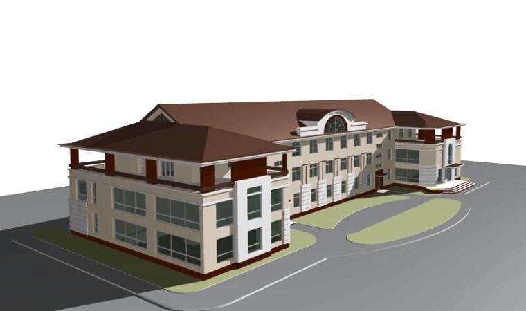 Реконструкция здания под оздоровительный центр (3D вид), Тверская область, Торжокский район