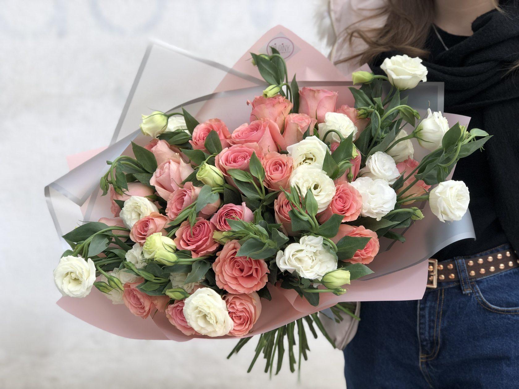 Цветы с доставкой по алматы недорого, букет колбасы
