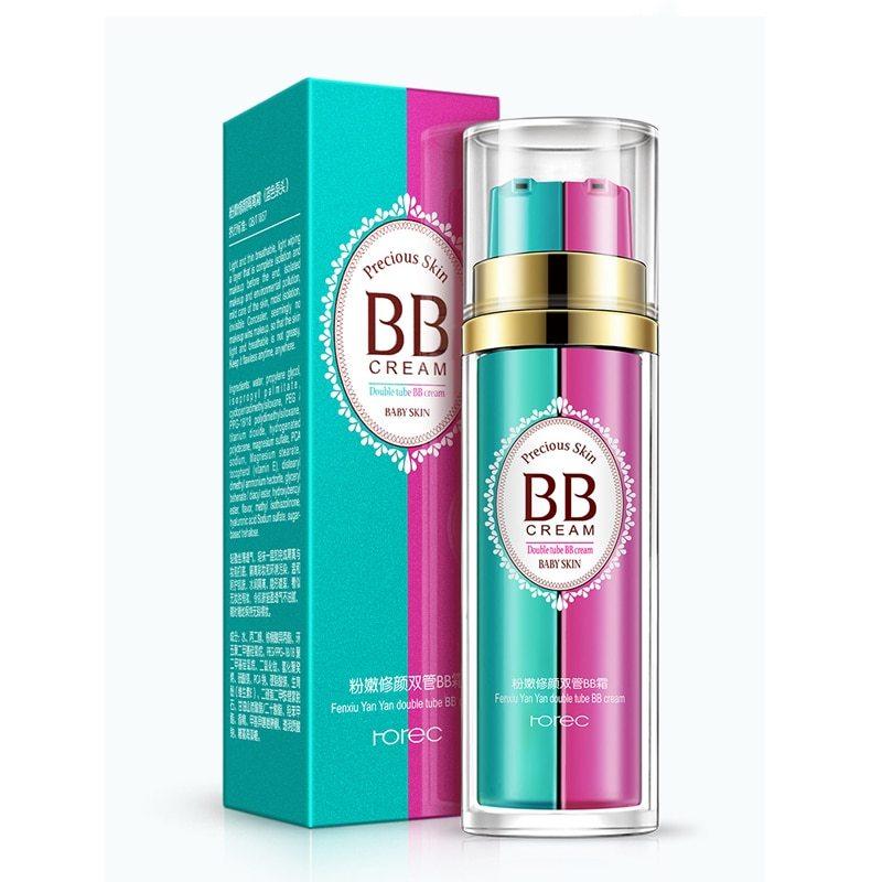 Ухаживающий крем-основа под макияж BB cream Rorec Dubble tube presious skin
