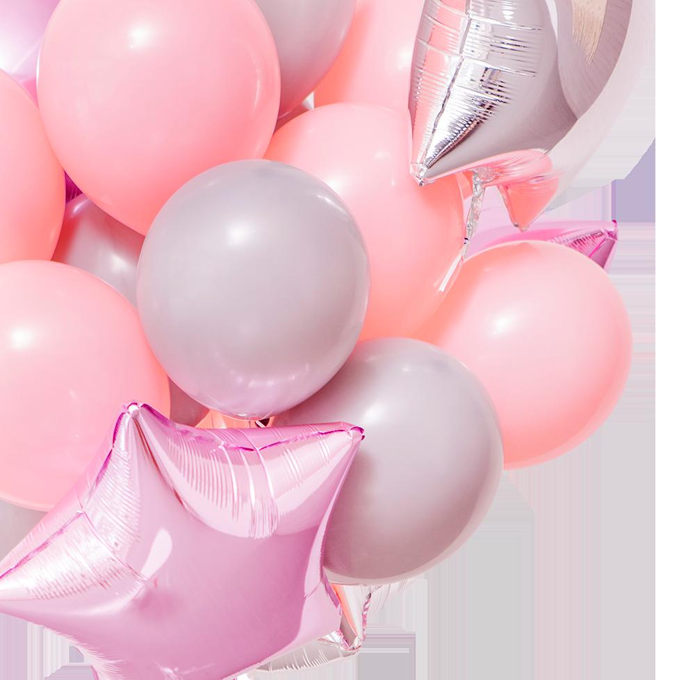 Воздушные шары розовые открытки