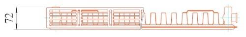 11 тип, радиатор Prado, вид сверху