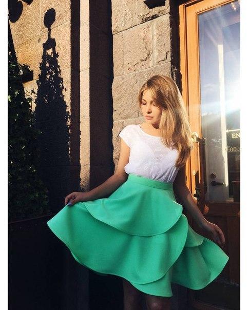 Женственная многослойная юбка купить в спб