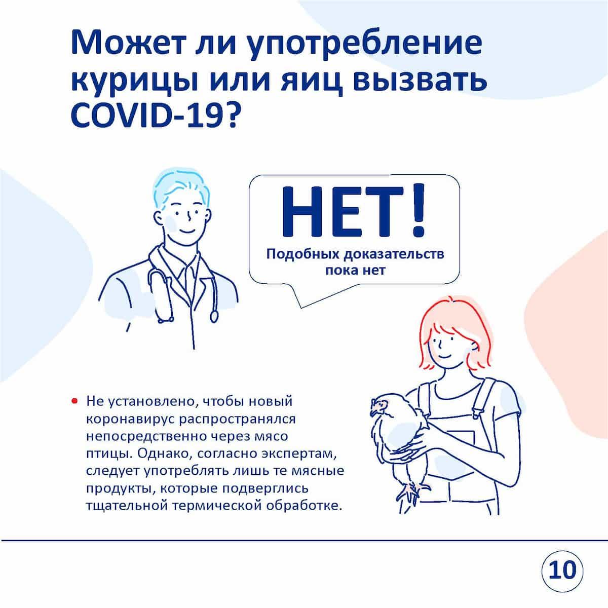 вызывание коронавируса употреблением курицы
